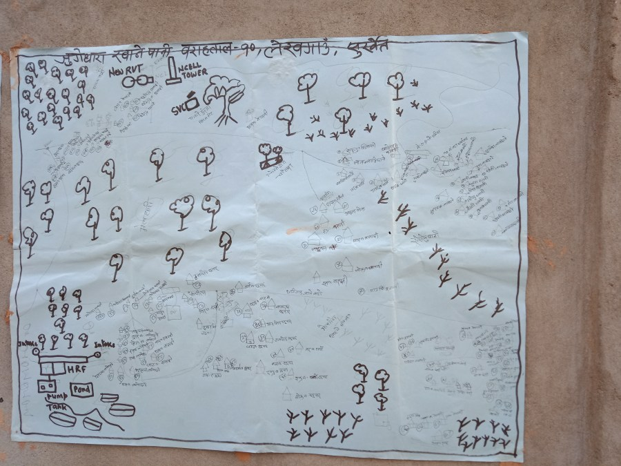 Map of the community drawn in consultation with community members