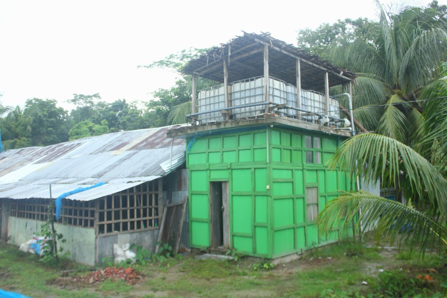 Construction of the solar energy system in Bhola Sadar