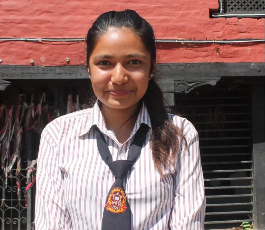 Deepa: a Nepali secondary school student