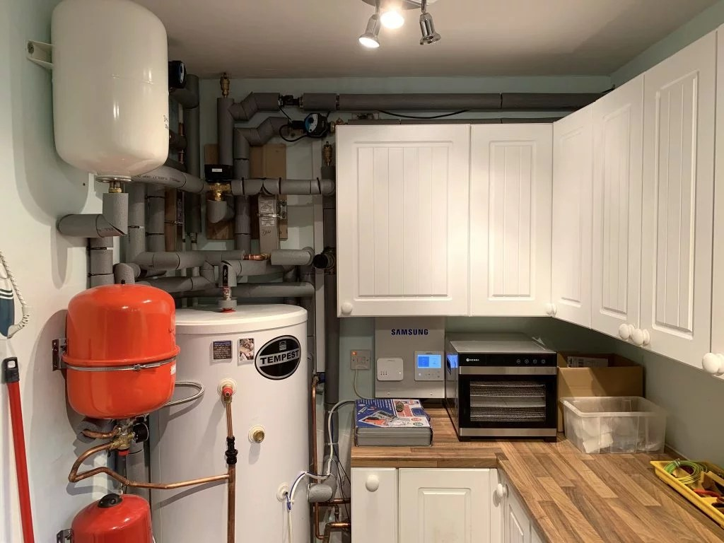 cylinder in utility room
