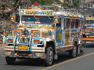 Jeepneys in Philippines God is with us