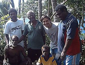 Mision team prayed for a paramount chief in Vanuatu