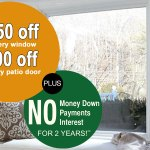 Current specials on replacement windows and patio doors