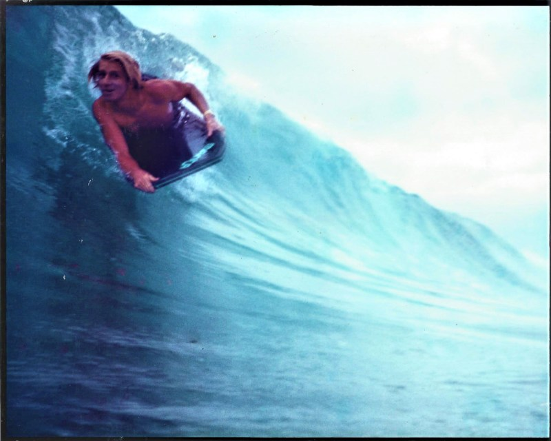 16 year old me with a big smile on my face riding a wave. Being fit over 40 not a concern.