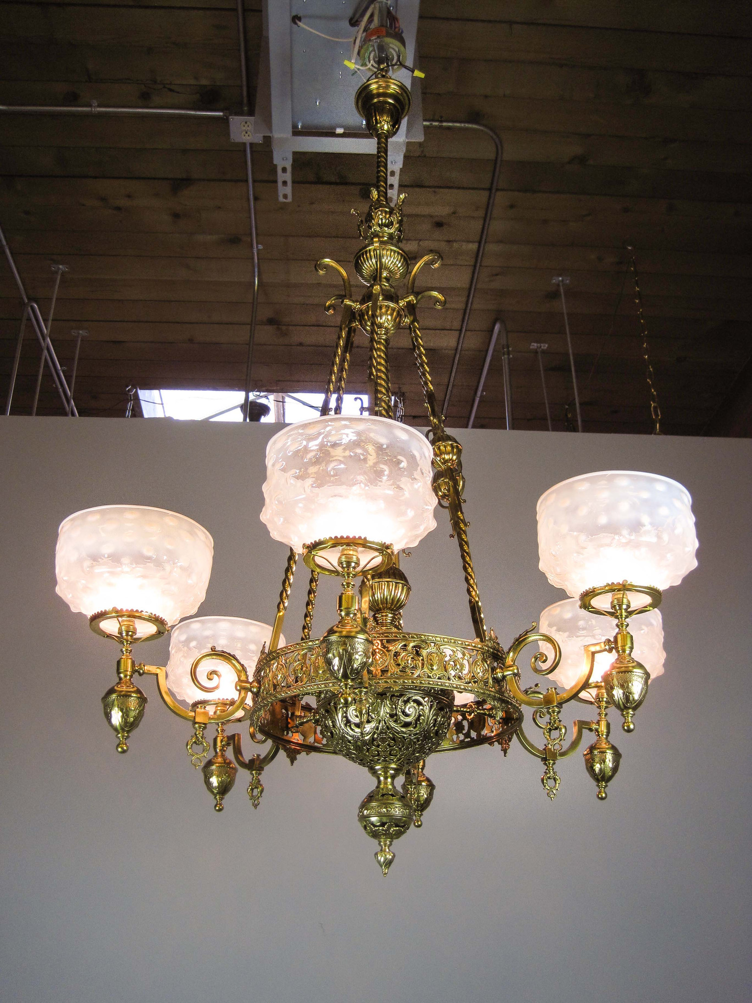 Mckenney Rod Hung Renaissance Gas Chandelier 6 Light