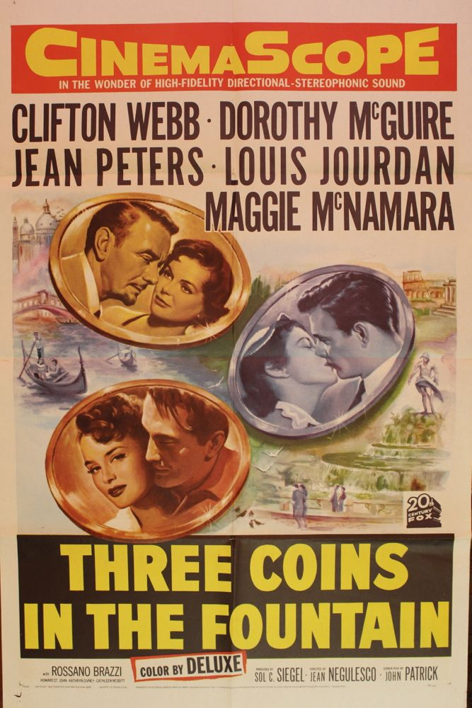 Three Coins In The Fountain Movie Poster Amp Set Of Lobby