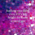 radiate, light, bright