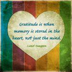 gratitude, memory, heart