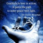 gratitude, love, action, peace