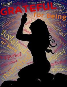 woman, praying, grateful