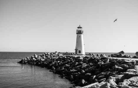 Journaling, Overcome, Lighthouse, Water, Rocks, Mental Health, Reflection