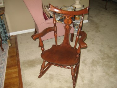 Refinished Rocker.  Repair arm.
