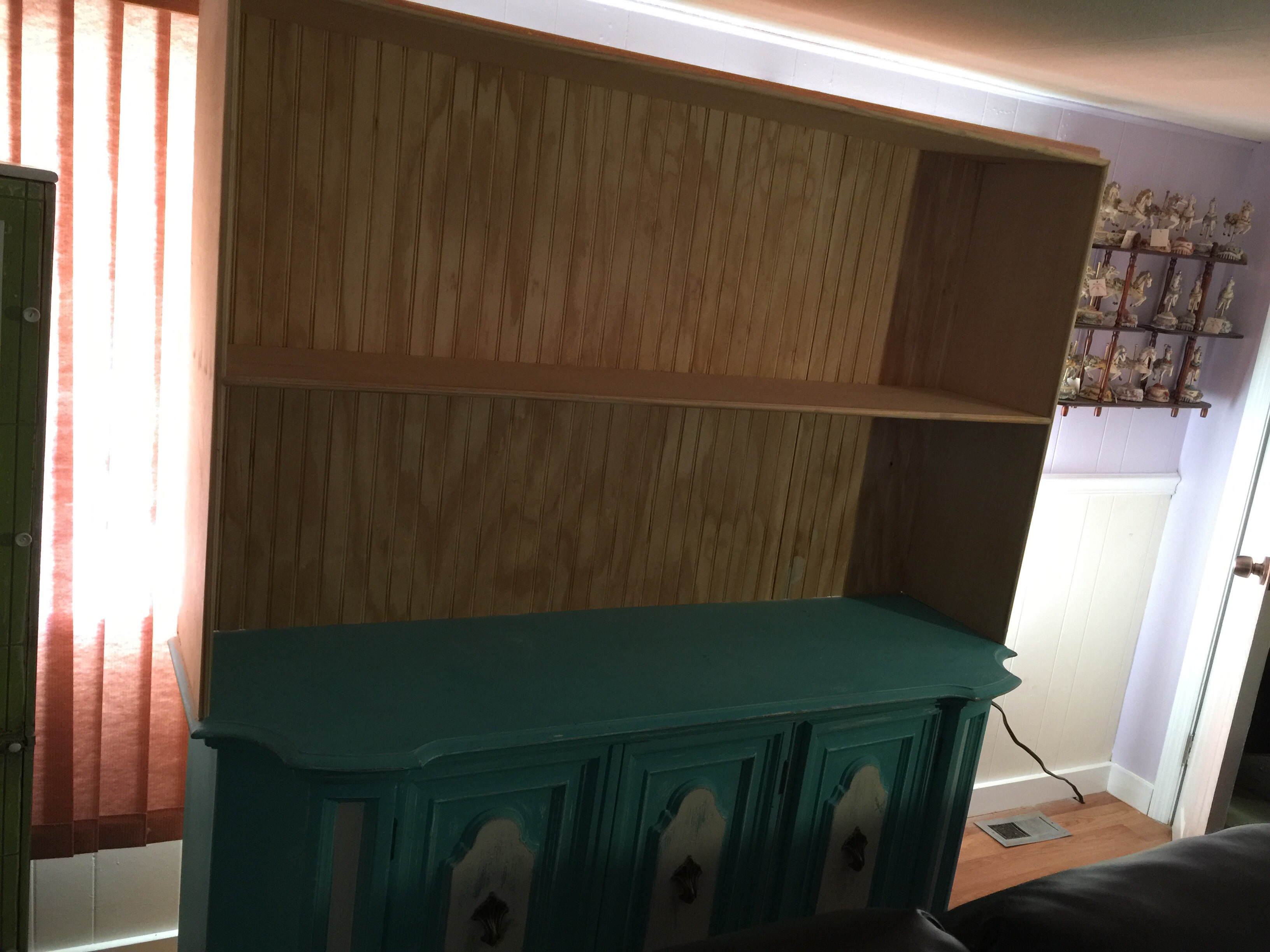 This Was A Project That Started Out As An Old Storage Cabinet, Which Was  Made Into Doll Cabinet By Adding A Top Shelves And Sides.