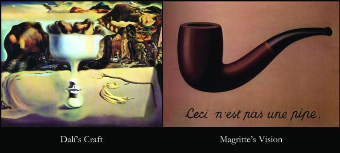 magritte dali comparison
