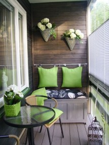 Creative Yet Simple Balcony Decor Ideas For Apartement21