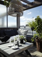 Creative Yet Simple Balcony Decor Ideas For Apartement32