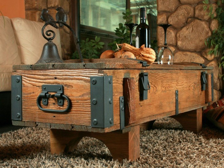 DIY Rustic Wood Furniture Ideas 23