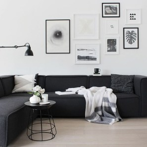 Dark Living Room Design For Home Decor 18