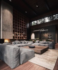 Dark Living Room Design For Home Decor 25