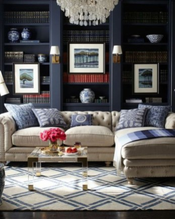 Dark Living Room Design For Home Decor 36