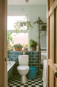 Lovely House Plants In The Bathroom30