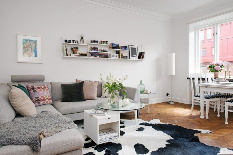 Neat And Cozy Living Room Ideas For Small Apartment 42