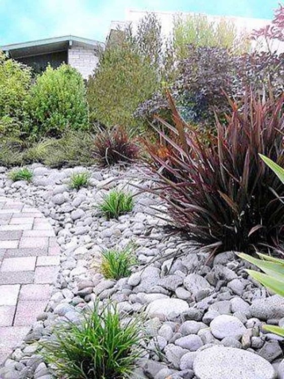 River Rock Landscape And Lavender Bush For Your Outdoor 15