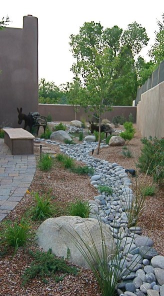 River Rock Landscape And Lavender Bush For Your Outdoor 21