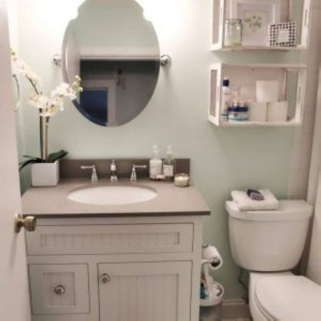 Small Bathroom Makeovers That Give Us Hope 29