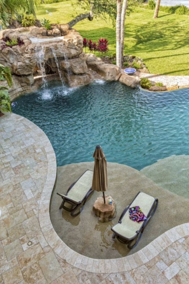Style Swimming Pool With Natural Stone Tiles 01