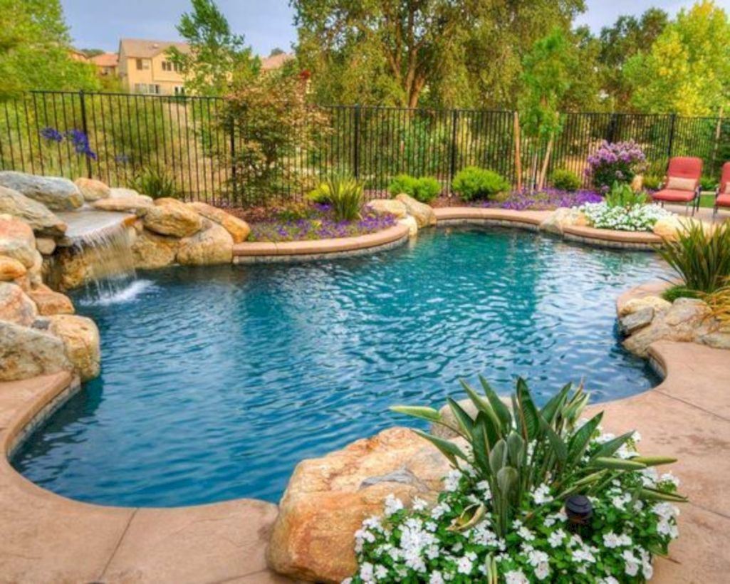 Style Swimming Pool With Natural Stone Tiles 03