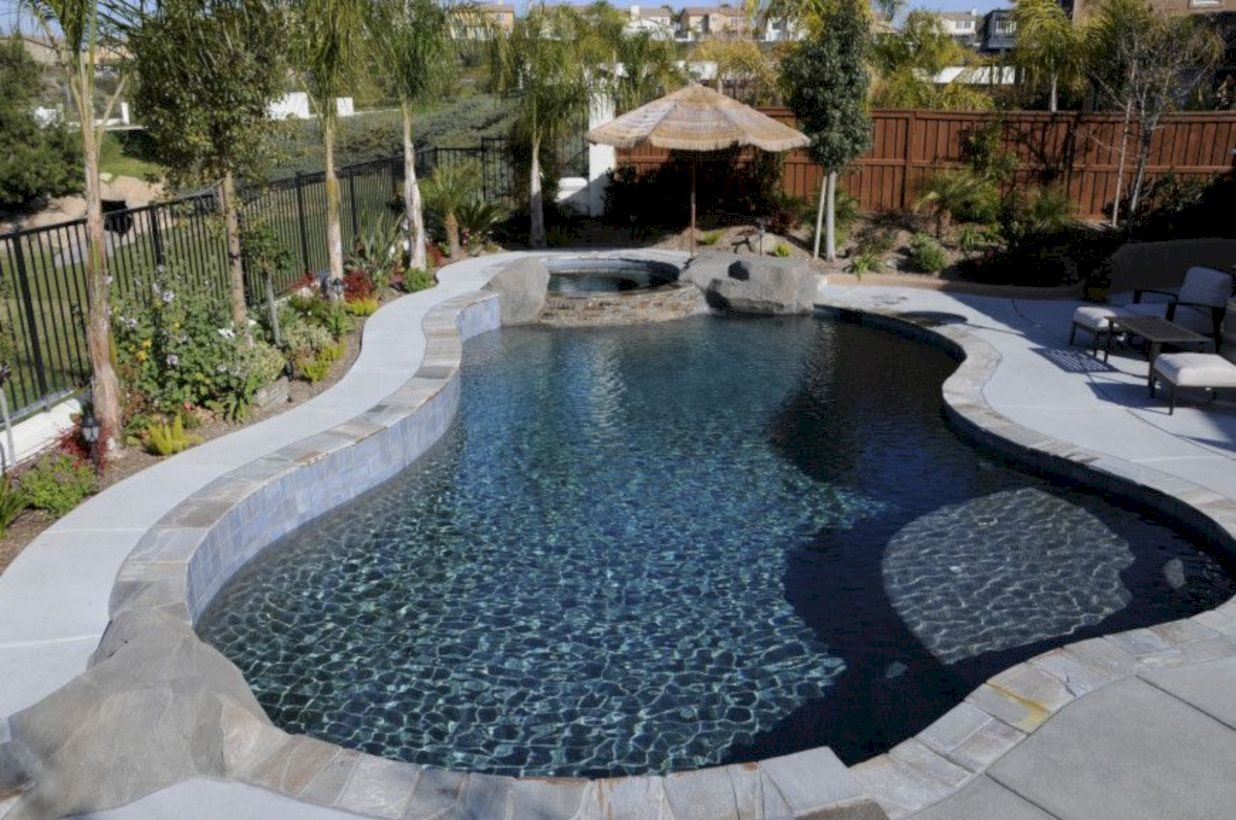 Style Swimming Pool With Natural Stone Tiles 04