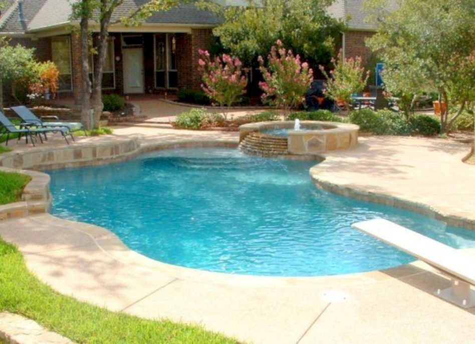 Style Swimming Pool With Natural Stone Tiles 12