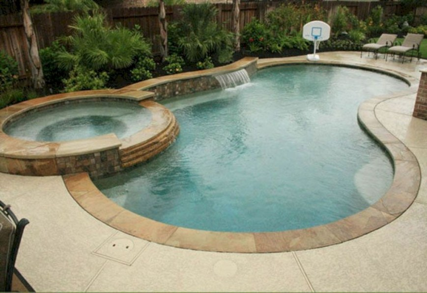 Style Swimming Pool With Natural Stone Tiles 19