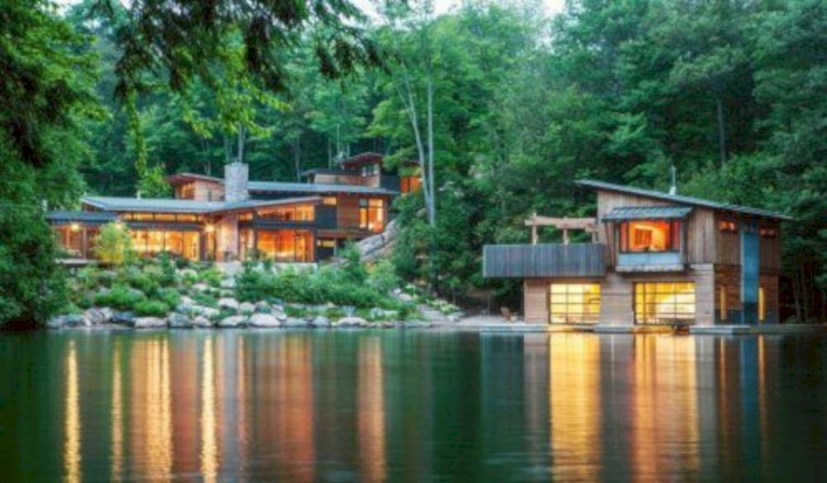 Modern Airy Home Design With Amazing Lake Views 29