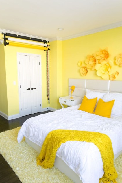 Yellow Bedroom For Your Child's Room Idea To Sleep Feels Warm 17