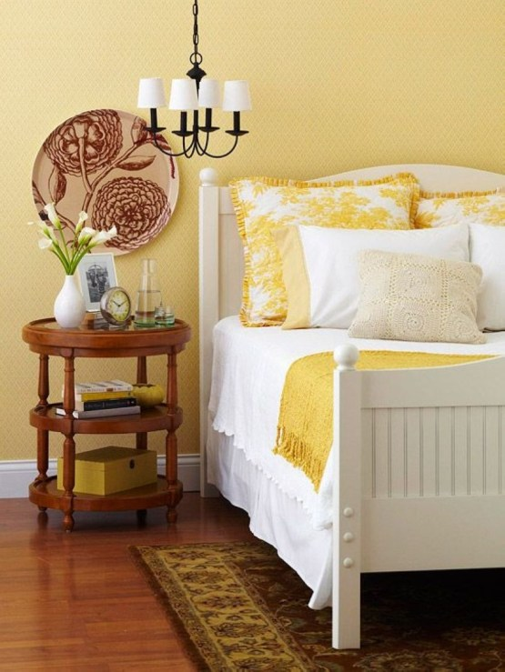Yellow Bedroom For Your Child's Room Idea To Sleep Feels Warm 35