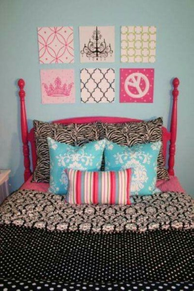 Check And Try Wall Decor In Your Daughter Bedroom 22