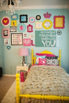 Check And Try Wall Decor In Your Daughter Bedroom 41