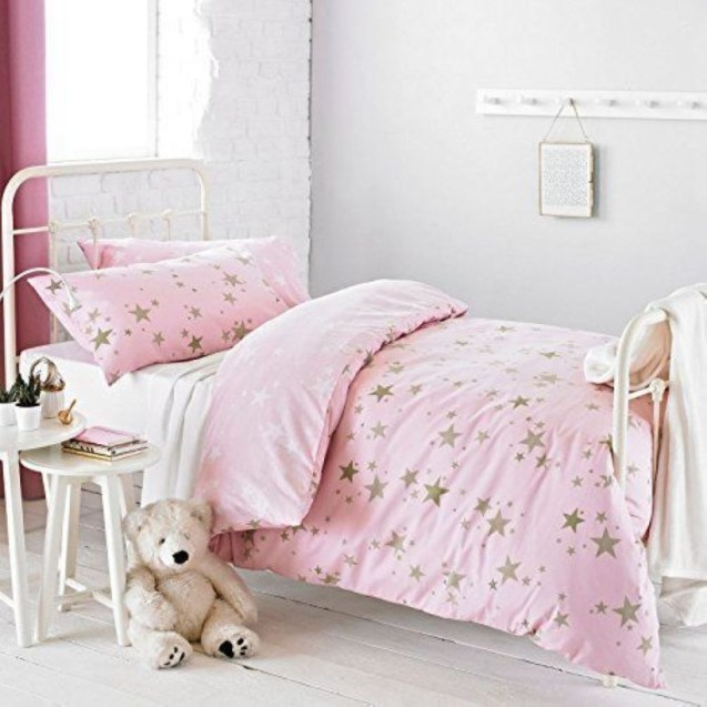 Cozy Teen Bedroom Decoration On Pink Style 03