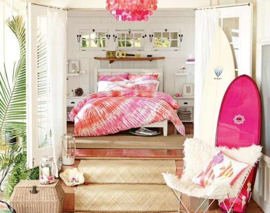 Cozy Teen Bedroom Decoration On Pink Style 14