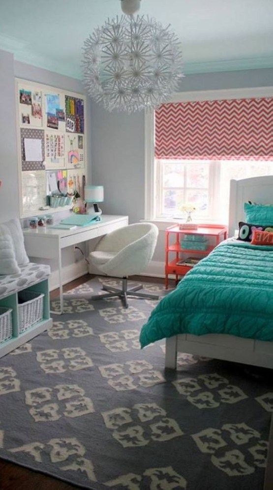 Cozy Teen Bedroom Decoration On Pink Style 34