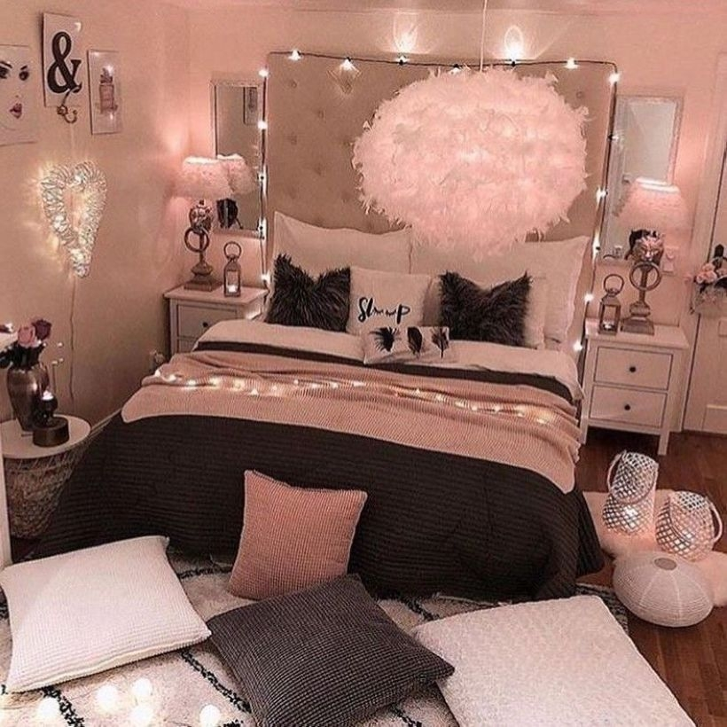 Cozy Teen Bedroom Decoration On Pink Style 35