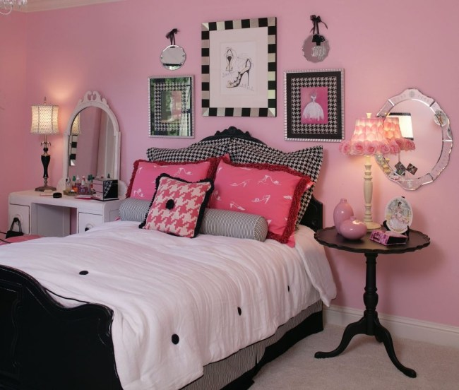 Cozy Teen Bedroom Decoration On Pink Style 42
