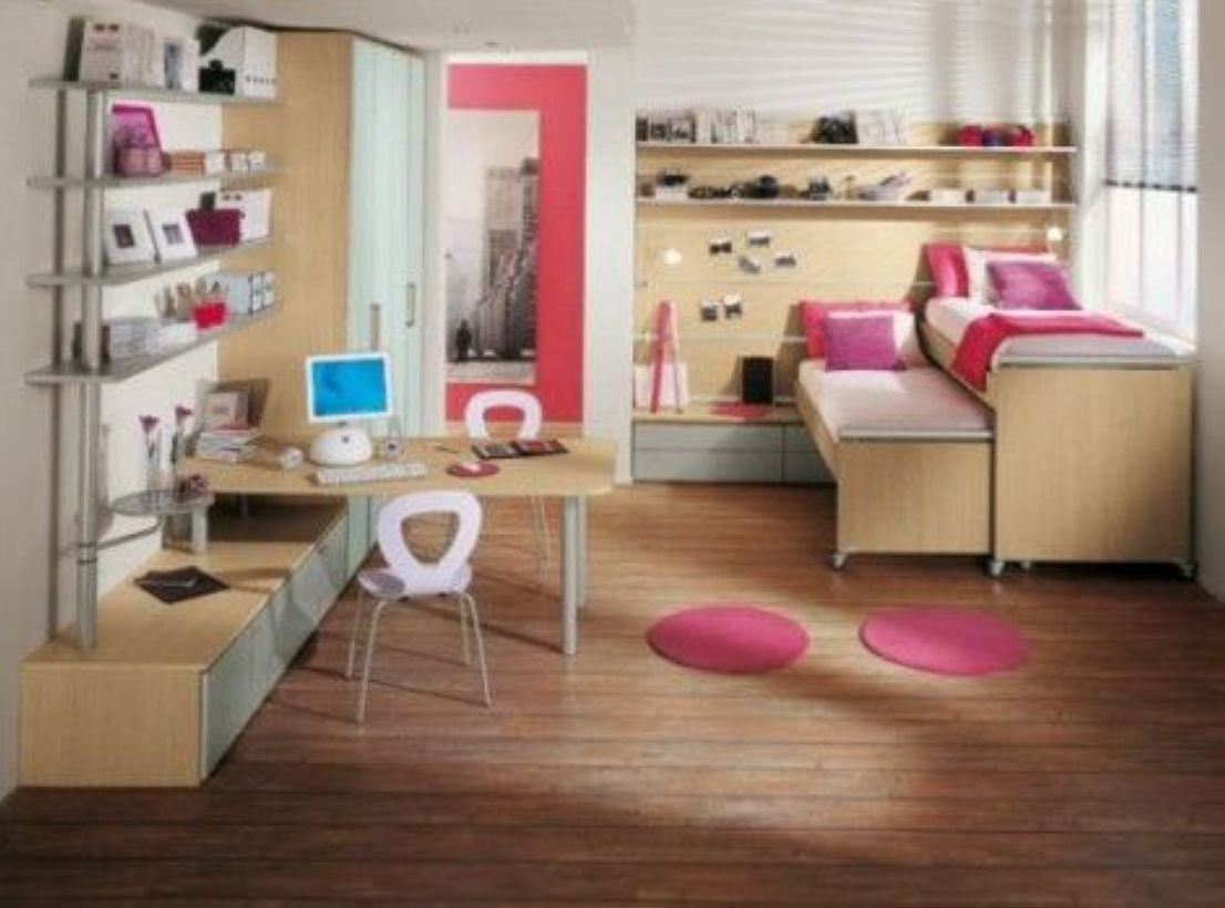 Cozy Teen Bedroom Decoration On Pink Style 43