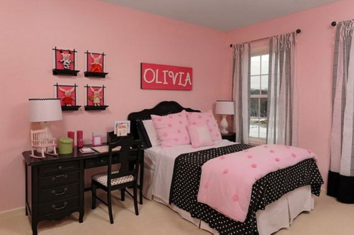 Cozy Teen Bedroom Decoration On Pink Style 44
