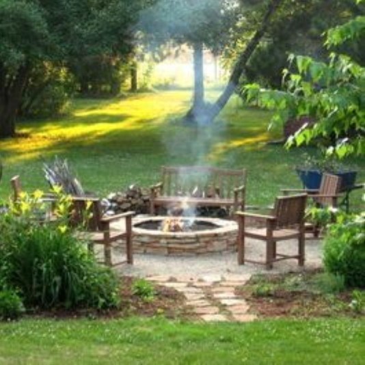 How To Make DIY Fire Pit In Garden With Low Budget 08