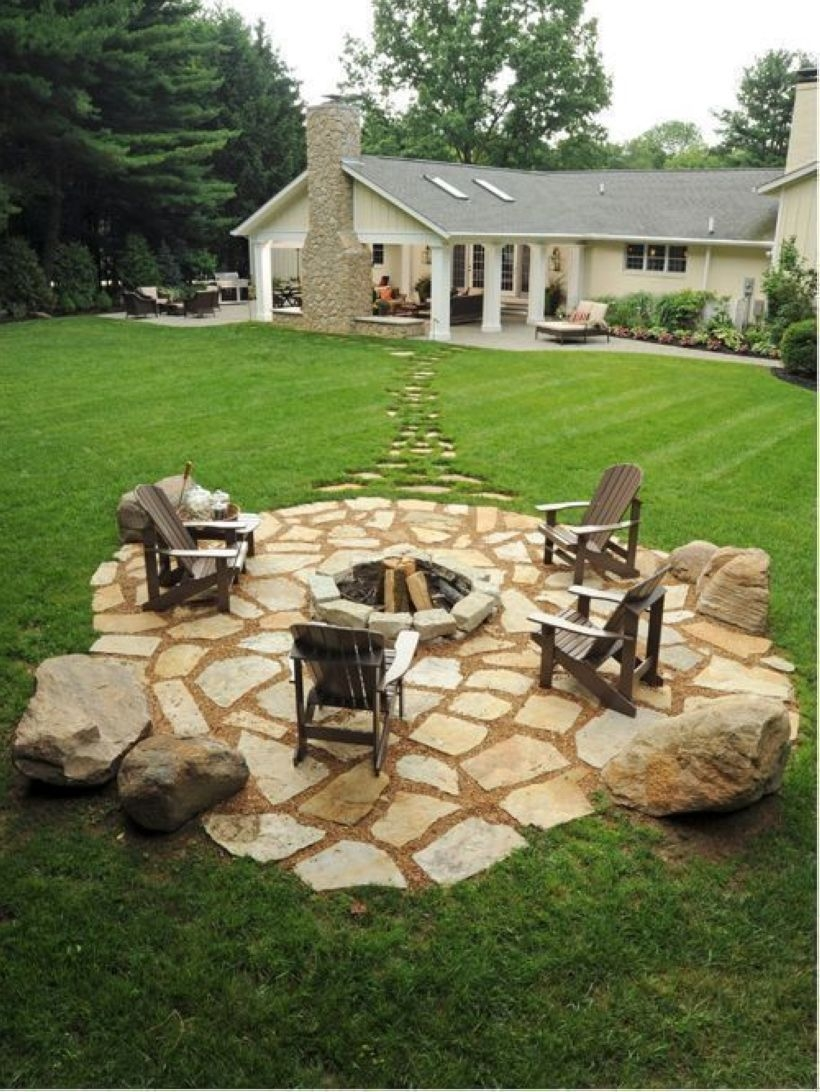 How To Make DIY Fire Pit In Garden With Low Budget 19