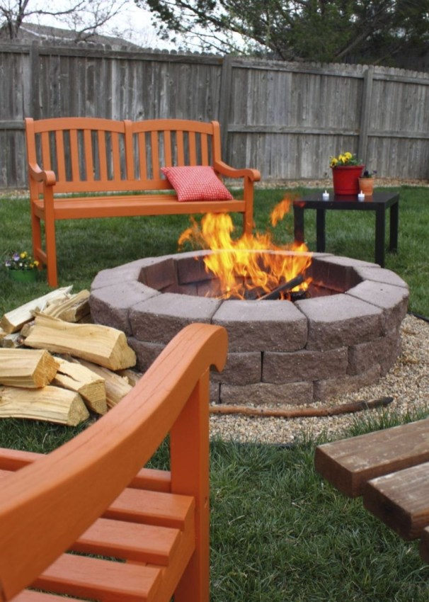 How To Make DIY Fire Pit In Garden With Low Budget 31
