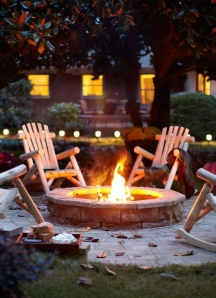 How To Make DIY Fire Pit In Garden With Low Budget 43